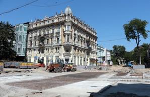Новые трамвайные рельсы в Одессе на Преображенской готовы от Тираспольской до Дерибасовской (ФОТО)
