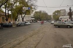 Фото дня: одесский трамвай на Алексеевской площади (ФОТО)