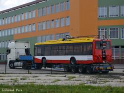 Первый из будущих одесских троллейбусов по кредиту ЕБРР уже привезли в Украину