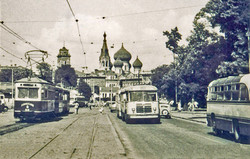 Одесские трамваи раньше разворачивались вокруг сквера 9 Января (ФОТО)