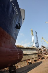 В Одессе отремонтировали молдавский сухогруз
