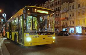 Для Киева создали схему ночного общественного транспорта