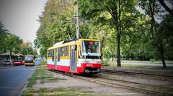 Фото дня: одесские трамваи и троллейбусы на улице Канатной