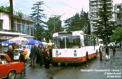 Озургеті, 2003 рік. Тролейбус користувався неабиякою популярністю...