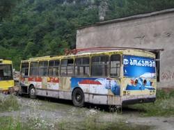 Чіатура... Тролейбуси на території депо стояли до 2011 року...