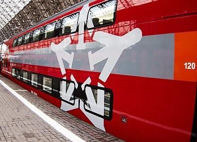 В Москву поставили первый двухэтажный аэроэкспресс Stadler