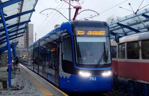 Первый из купленных для Киева 40 польских трамваев уже начал перевозить пассажиров (ФОТО)