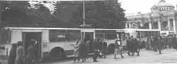 """1980 год, конечная на Привокзальной площади, фото из музея КП """"ОГЭТ"""""""