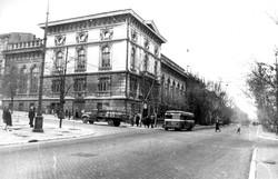 Троллейбус ЯТБ на Пушкинской угол Греческой, 1949 г., из фонда ЦГКФФА Украины им. Пшеничного