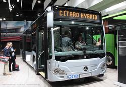 Автобус Mercedes-Benz Citaro. Гибрид с газовым двигателем.