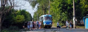 Фото дня: одесские трамваи в Люстдорфе