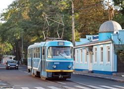 Фото дня: одесский трамвай вдоль старой черты порто-франко