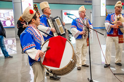 Как в Одессе встречали первый авиарейс из столицы Болгарии (ФОТО)