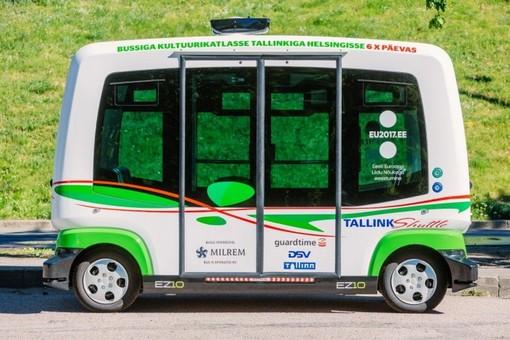 В столице Эстонии внедряют беспилотный микроавтобус