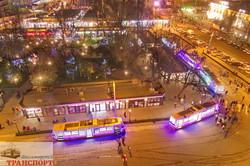 Яркий и красочный парад рождественских трамваев проехал по Одессе (ФОТО, ВИДЕО)