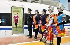 В Китае открыли очередную линию железной дороги