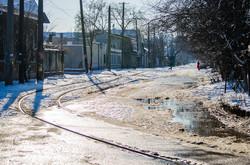 Как в Одессе на Слободке трамвайные пути ремонтировали (ФОТО)