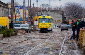 В Одессе реконструируют линию трамвая по Новощепному Ряду