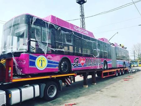 Первые троллейбусы за кредит ЕБРР уже доставили в Кременчуг