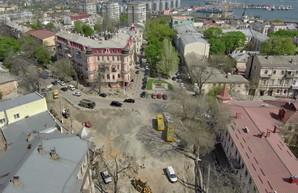 Как проходит реконструкция улицы Преображенской в Одессе (ФОТО)