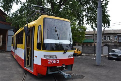 В Одессе изготовили еще один новый трамвай (ФОТО)
