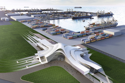 В Азербайджане открыли новый морской торговый порт