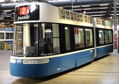 В швейцарском Цюрихе презентовали проект нового трамвая, разработанный Bombardier специально для города