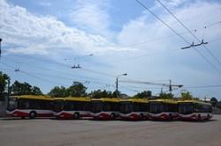 Электротранспорт Одессы пополняется новыми троллейбусами (ФОТО)