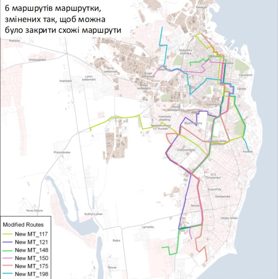 121 маршрутка одесса схема движения