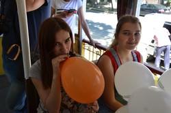 """""""Трамвай счастья"""" порадовал маленьких одесситов (ФОТО)"""