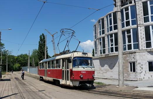 Конечная одесских трамваев на Большом Фонтане поменяет дислокацию