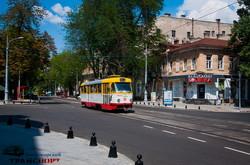 В Одессе снова пошли трамваи по Преображенской и Софиевской (ФОТО)