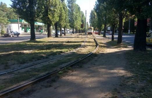 В Одессе стартовал капремонт трамвайного переезда по улице Ицхака Рабина