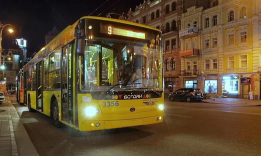 В Киеве запускают ночной троллейбус на Борщаговку