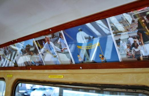 Одесса и одесситы - 60 кадров трамвайной галереи в украинском формате (ВИДЕО)