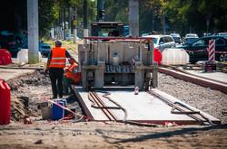 Как в Одессе проходит ремонт трамвайных рельсов на 5-й Фонтана (ФОТО)