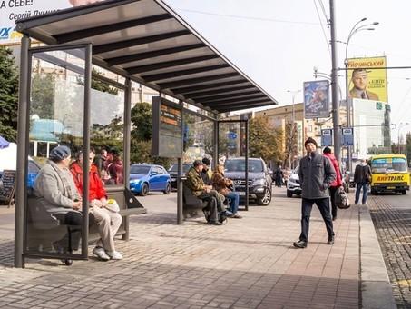 В Киеве частная фирма будет обслуживать остановки общественного транспорта