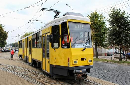 Появились первые фотографии испытанийтрамваев из Берлина во Львове