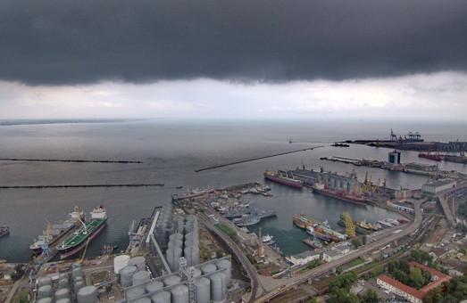 Контейнерный терминал в порту Одессы начал перевалку зерна