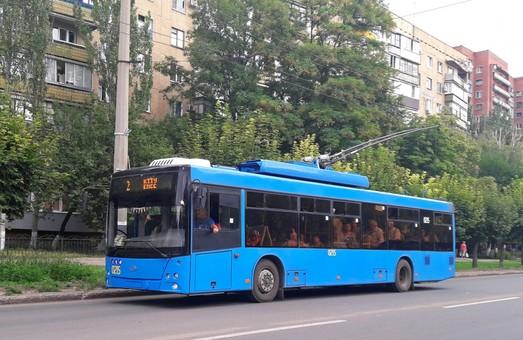 В троллейбусном парке Краматорска пополнение