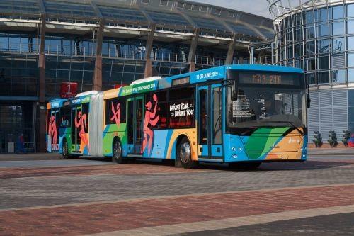 Минский автозавод представил новый автобус-«гармошку» МАЗ 216