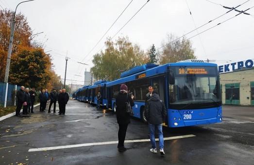 В Ровно получили семь новых троллейбусов