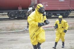 На станции «Одесса-Товарная» тушили условный пожар