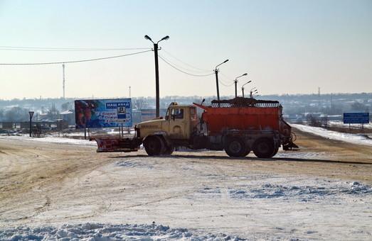 Из-за снегопадов ограничено движение на трассе Киев – Одесса