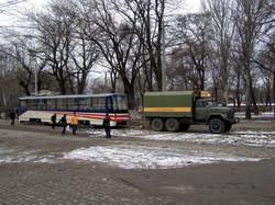 Одесский транспорт 10 лет назад: как на рельсы ставили последний трамвай модели К1 (ФОТО)