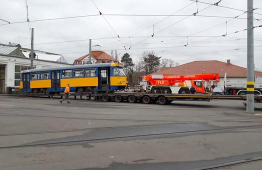 Пожарникам Лейпцига подарили трамвай