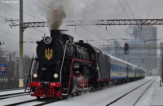 В Киеве на Рождественские праздники курсировал ретро-поезд