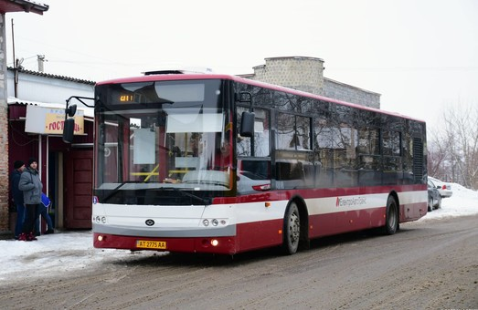 В Ивано-Франковске новые автобусы «Богдан» большого класса  вышли на маршрут