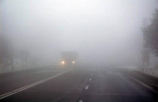 На дорогах Одессы, центра и юга Одесской области, туман и гололед