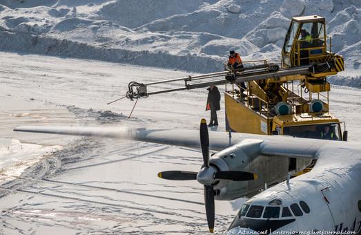 Одесский аэропорт купил спецавтомобиль для обработки самолетов жидкостью против обледенения